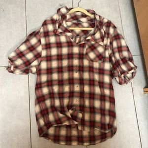 Vince Size Small Plaid Oversized Button Down